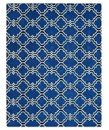 Brand New Scroll Tile Indigo 5x8 Persian Style ... - $211.65