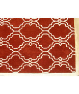 FRENCH ACCENT SCROLL TILE RUST 2.6' x 9' HANDMA... - $305.15