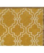 SCROLL TILE LEMON YELLOW 4' x 6' HANDMADE  PERS... - $169.15
