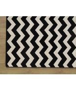 Chevron Zig Zag Black 3' x 5' Handmade Persian ... - $135.15