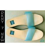 DKNY spain SANDALS aqua TRANSPARENT band SOLE n... - $30.07