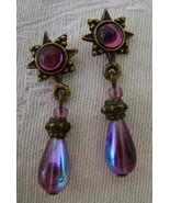 Earrings, Sweet Romance, Purple Sunburst  - $7.00