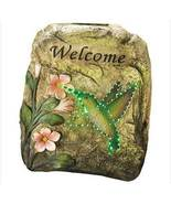LED solar  Motion Welcome Hummingbird Plaque - $21.99