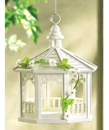Bird Feeder White Gazebo is hand-crafted and ha... - $9.29