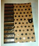 BLACK & GOLD FOIL POLKA DOT NATURAL KRAFT STRIN... - $12.99