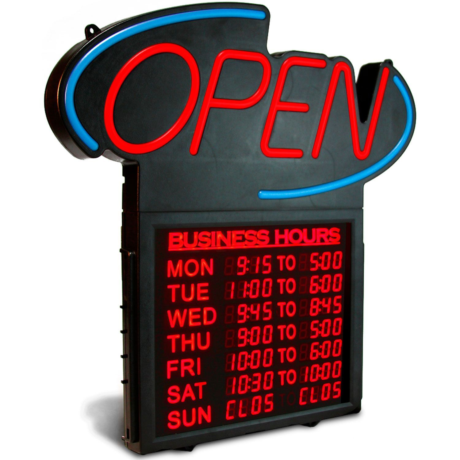 Business hours 20 open hours digital sign business signs for Michaels crafts hours today