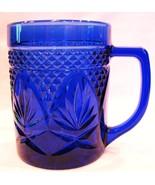 Cristal D'Arques Mug Cobalt Blue Antique Pattern - $12.00