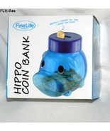 FineLife Products Blue Hippo Plastic Coin Bank ... - $19.99