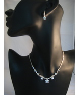 Austrian Crystal Silvertone Necklace And Earrin... - $22.00