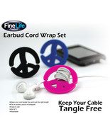 Earbud CORD WRAP Set of 3 by FineLife - $8.79