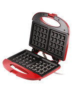 Waffle Maker in Red nonstick duo by FineLife - $16.39