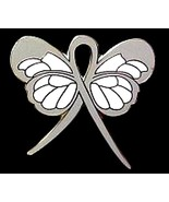Gray Ribbon Butterfly Pin Brain Cancer Awarenes... - $10.97