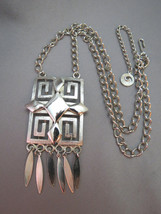 VTG Lisner Necklace Egyptian Revival Pendant Si... - $36.62