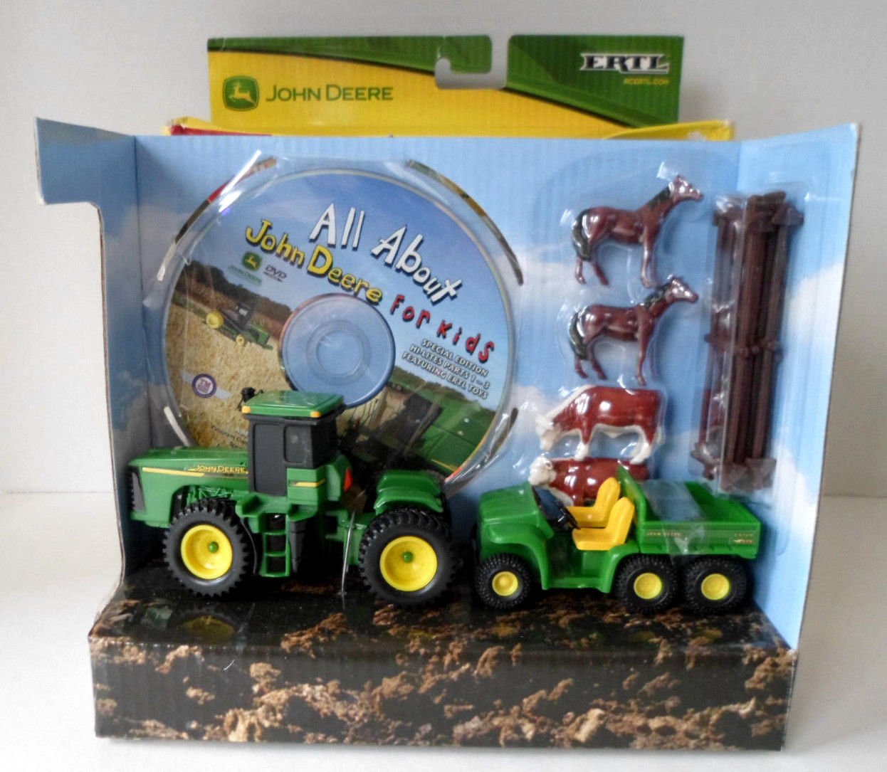 ERTL Deluxe Farm Animal Play Set All About John Deere For