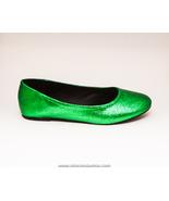 Glitter | Kelly Green Ballet Flats Slippers Cus... - $49.99