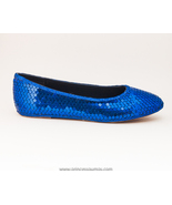 Sequin Royal Blue Ballet Flats Slippers Shoes b... - $39.99