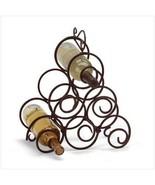 Scrollwork Wine Rack Wrought-iron spirals  - $12.99