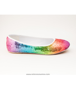 Sequin | Rainbow Ballet Flats Slippers Shoes by... - $39.99