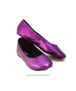 Glitter Purple Plum Ballet Flat Slipper Custom ... - $39.99
