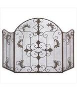 Fireplace Screen Wrought Iron Tri-fold  Italian... - $45.89