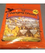 10 Halloween Plastic Bag Hanging White Ghosts F... - $3.99