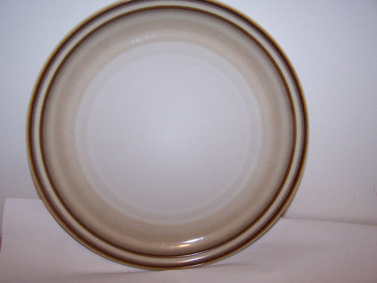 Noritake Dinner Plate Stoneware Fanfare 8621 Japan Dinnerware Dishes Tan Brown - Stoneware