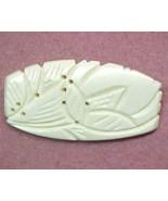 vintage natural bone carved pin - $7.00