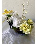 Ella's Floral Arrangement - Black Shoe with Whi... - $29.00