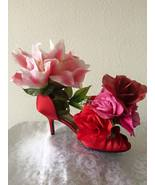 Ella's Floral Arrangement - Red Shoes with Pink... - $35.00