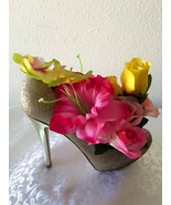 Ella's Floral Arrangement - Shoe and Flowers - $35.00