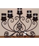 5 Arm Brown Metal Table Candle Holder 22