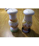 Vintage Egghead Chefs Salt and Pepper Shaker Set - $7.99