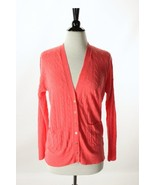J. Crew Pink Linen Cable Knit V-neck Cardigan S... - $48.95