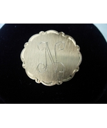 Vintage Initial N Brooch or Pin - Gold Tone Bru... - $7.00