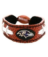 CLASSIC FOOTBALL LEATHER BRACELET BALTIMORE RAVENS - $8.42