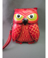 New Red Owl Purse Change Purse Wallet Clutch Le... - $24.05