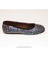 Sequin | Rainbow Speckle Ballet Flats Slippers ... - $39.99