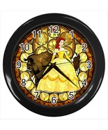 NEW* HOT  BEAUTY AND THE BEAST  Black Wall Cloc... - $20.95