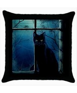 NEW* HOT BLACK CAT Quality Black Cushion Cover ... - $18.99