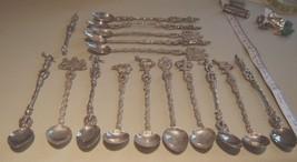 15 Vintage Silver Plate Italien Ice Tea Spoons - $34.65
