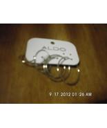 Set of 3 Aldo Silvertone Hoop Earrings Pierced - $3.99
