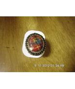 Girls Aldo Fashion Bling Ring Red Plaid Design ... - $3.99