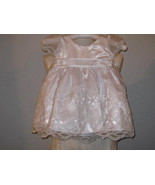 Girls White Embroidered Satin Dress Size 9 mo t... - $19.00