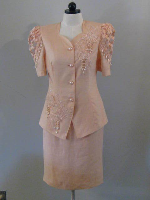 Belldini Ladies Dress Suit With Faux Pearls Size 10 New