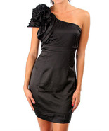 Sexy Ruffled One Shoulder Black Party Cruise Co... - $29.99