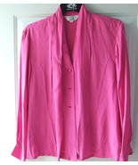 Ladies Designer Silk Blouse Sunny Leigh Hot Pink L - $2.50