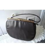 Vintage Dark Brown Leather Purse Handbag Cortin... - $53.55