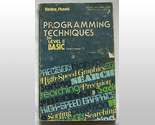 Buy Programming Techniques Basic II TRS 80 book sc