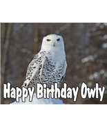 Snowy Owl  Personalized Edible Cake design. - $7.99