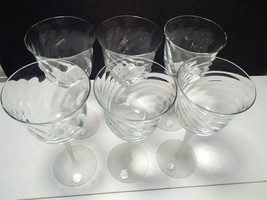 6 VALERIE~CRYSTAL CLEAR INDUSTRIES WATER~WINE~G... - $24.99